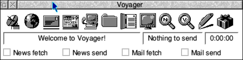 The black and white Voyager theme