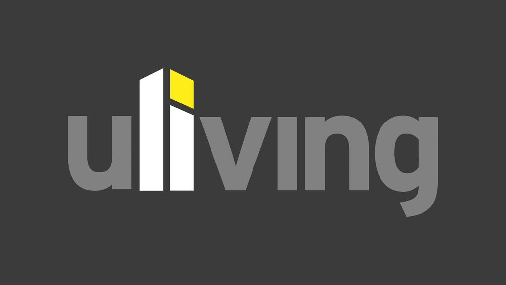Uliving Large - darkened to show that two of the letters appear to be a tower block