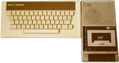 Acorn Electron with a tape recorder