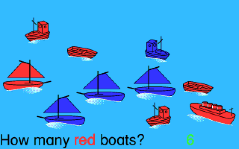 How many red boats? (spoiler alert: it's six)