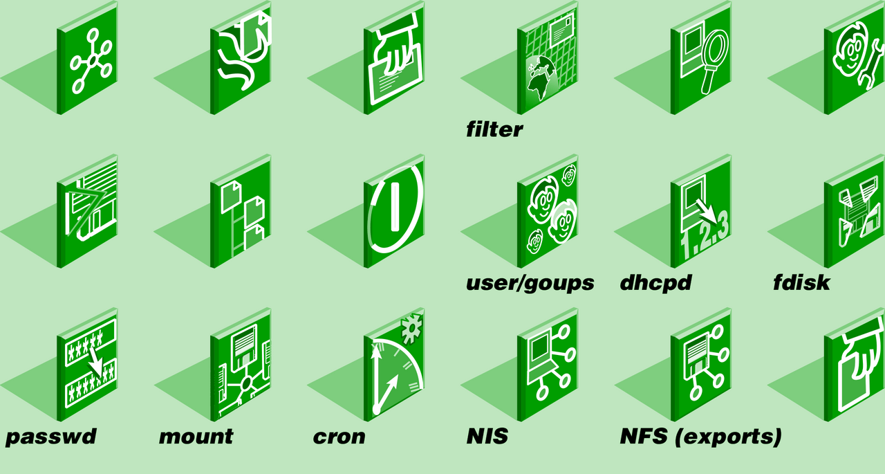 Some more icons - just a few, shown quite big.