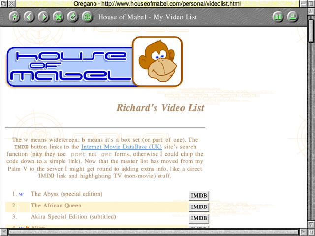 My website from the year 2000