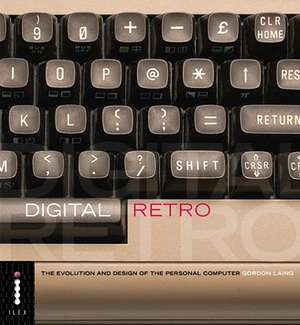 Digital Retro book cover - it has part of a computer keyboard underneath the words